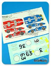 Calcas 1/24 Renaissance Models - Ford GT40 MkII - Nº 3, 6 - 24 Horas de Le Mans 1966 para kits de Fujimi FJ12101, FJ12102, FJ12103