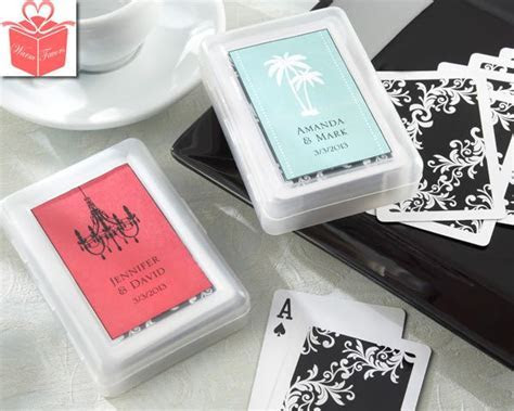 """Discount Wedding Favors   """"Perfectly Suited"""" Playing Cards"""