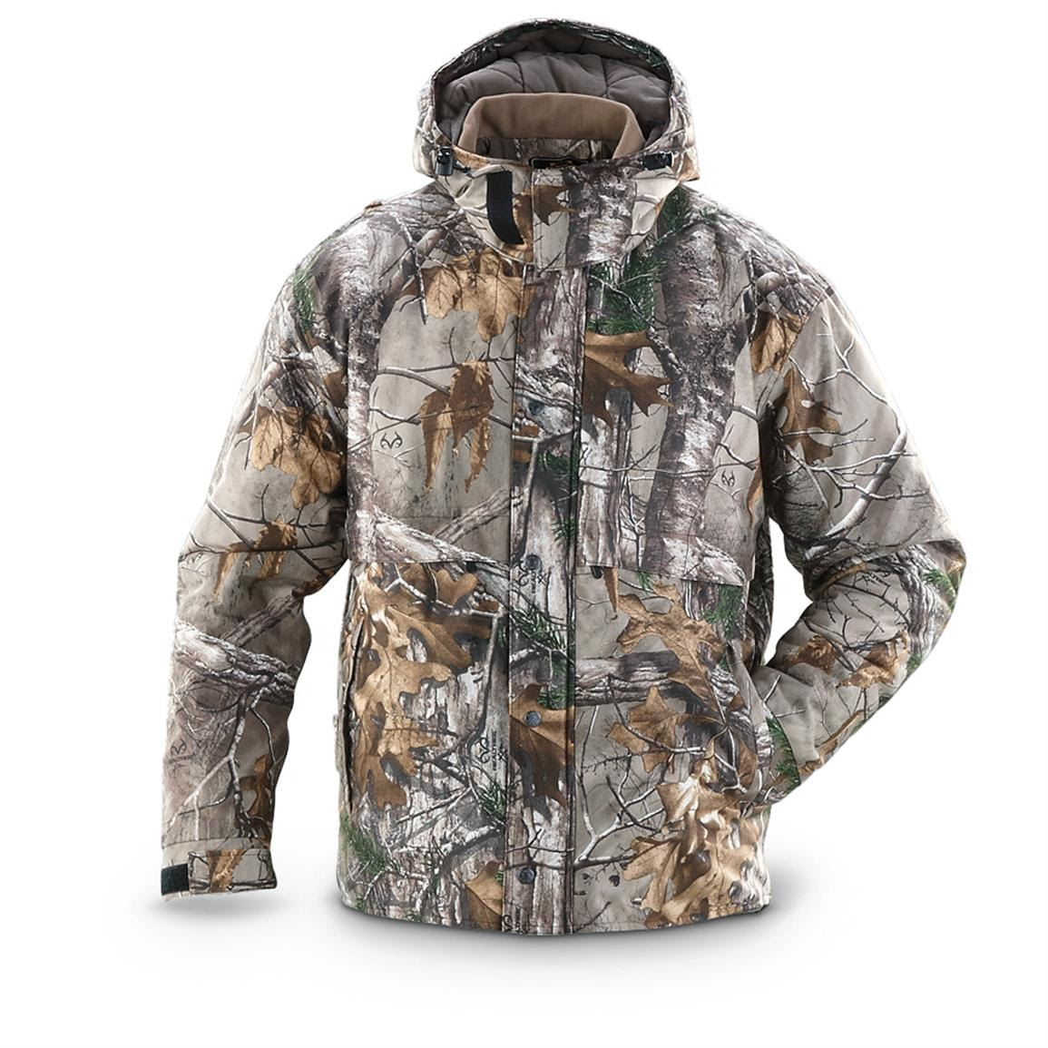 guide gear polytricot hunting jacket realtree xtra camo