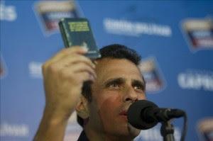 Imagen de archivo del líder de la oposición de Venezuela y excandidato presidencial, Henrique Capriles. EFE/Archivo