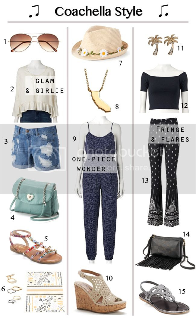 what to wear to Coachella, three Coachella outfit ideas, spring music festival style