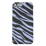 Sky Blue Zebra Striped Barely There iPhone 6 Case
