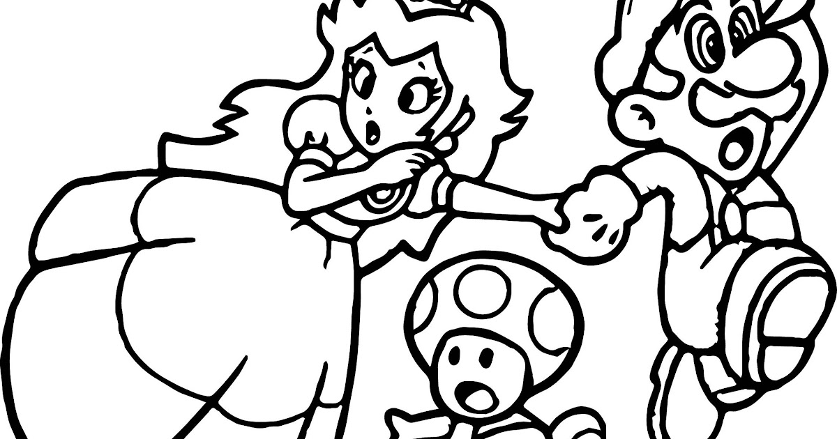 🎨 Princess Peach Daisy And Rosalina Coloring Pages 1 - Kizi Free ... | 630x1200