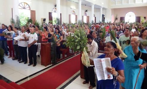 Missa do Domingo de Ramos (Foto:Pascom)