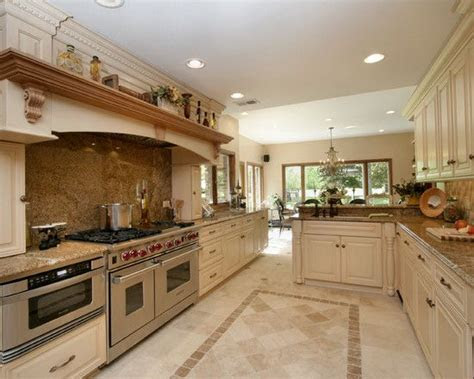 travertine floor white cabinets design pictures remodel