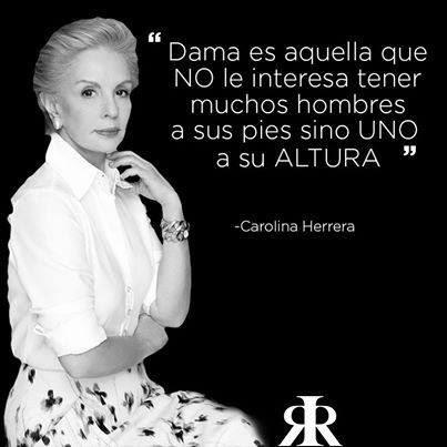 Frase de Carolina Herrera