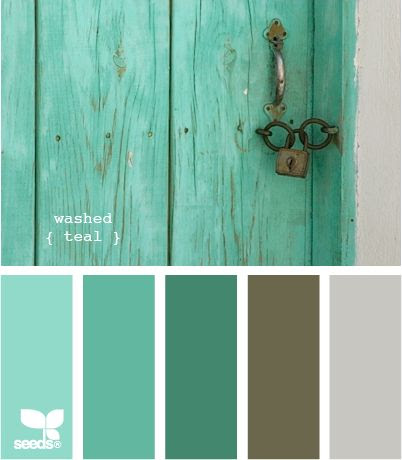 Im in love with the dark teal color and the smoky brown/gray color. It would be a great color combination for a family room or bedroom. I have to find the Sherwin-Williams colors that are closest to these :)