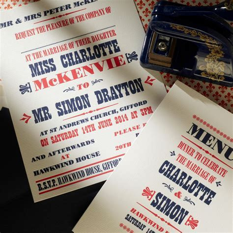 Red and Blue Billboard Style Poster Wedding Invitation