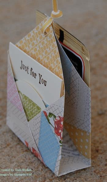 Double Pocket Tea Bag Holder   Nutz about Stamping