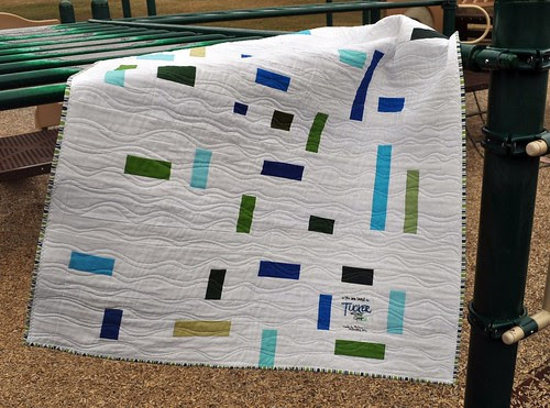 Sea Glass Quilt ~ Back