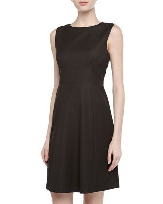 Tahari Sleeveless Faille Fit-and-Flare Dress