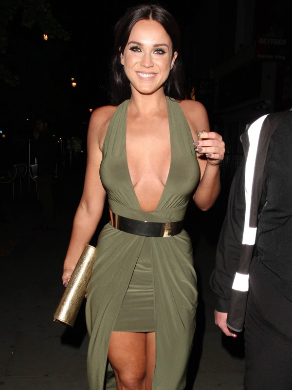 'Geordie Shore' star Vicky Pattison spotted in a revealing green outfit
