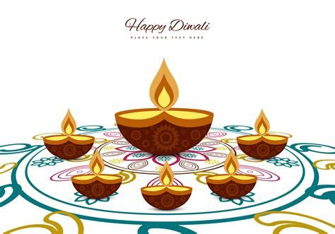 Greeting Card For Diwali Festival   Download Free Vector