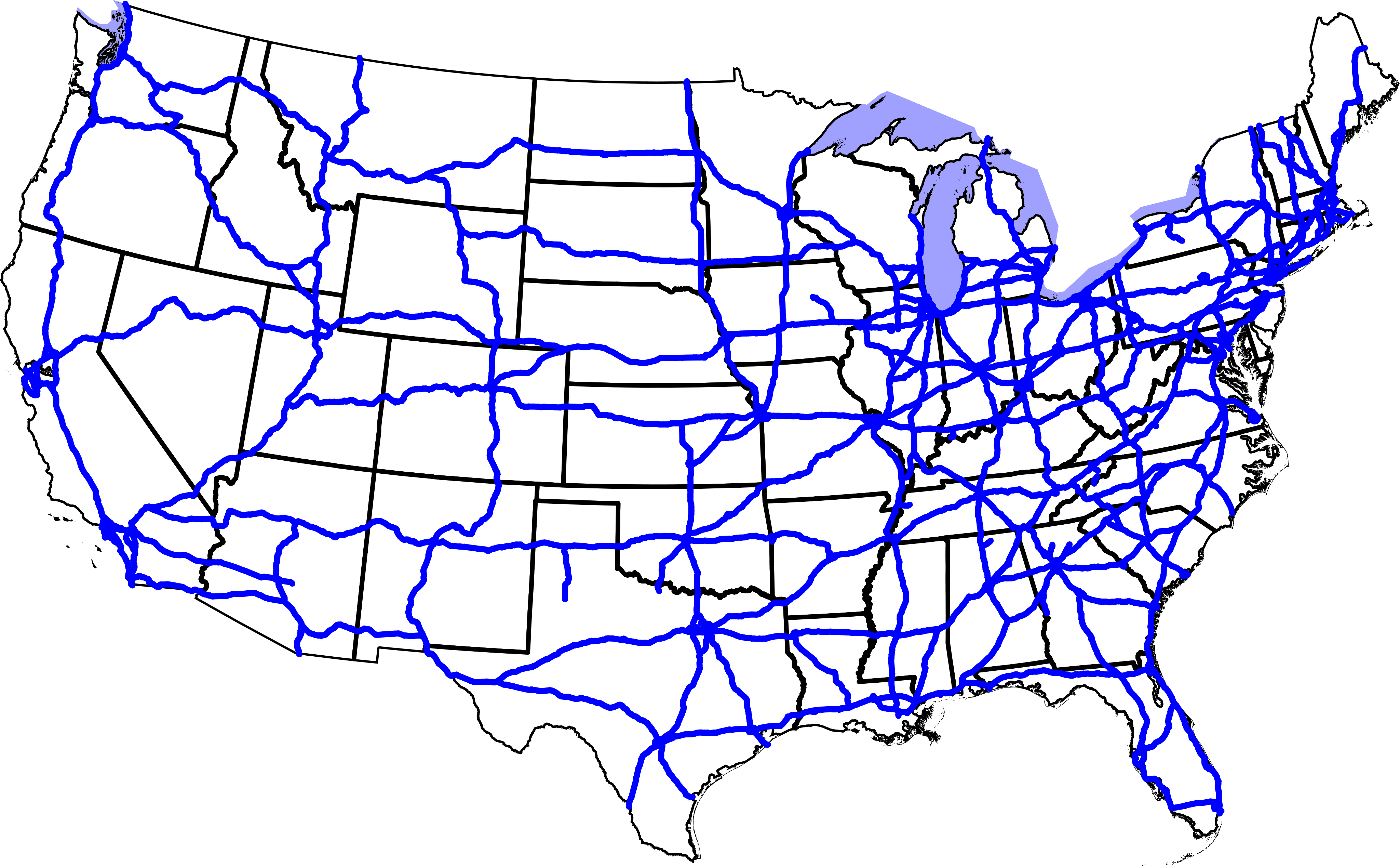 Maps Us Map With Highways - Us freeway map