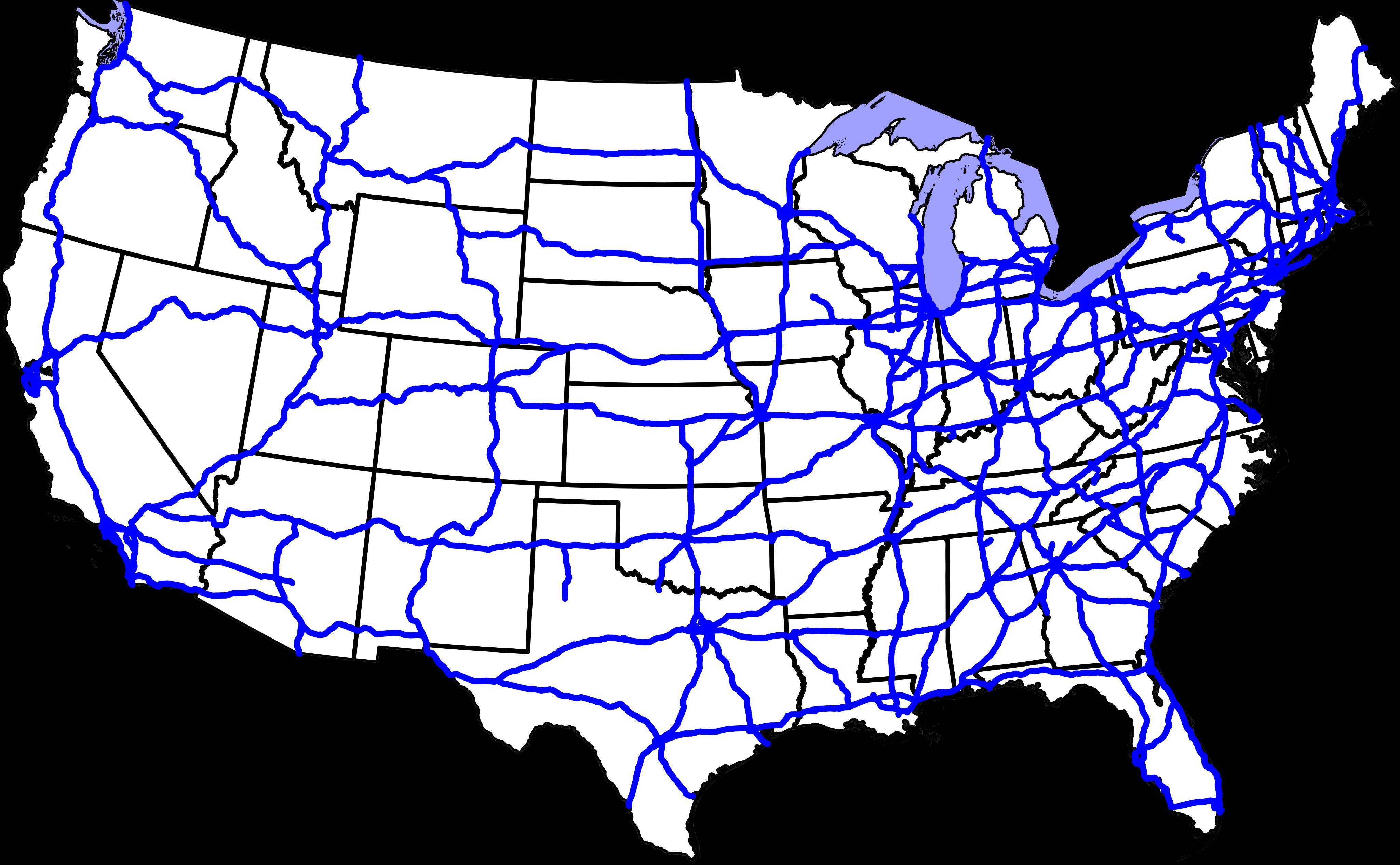Maps Us Map Interstate - Us map interstate