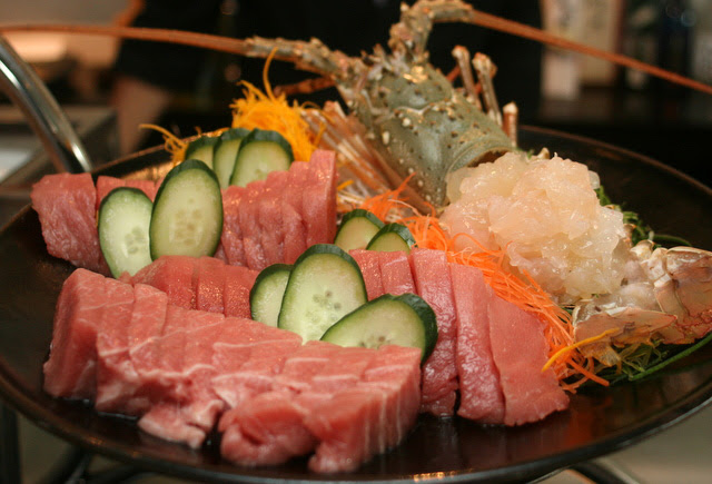 Some of the freshest sashimi - toro and lobster