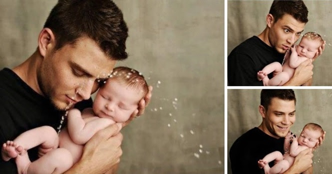 Fotos adoráveis de pais felizes e seus filhos pequenos