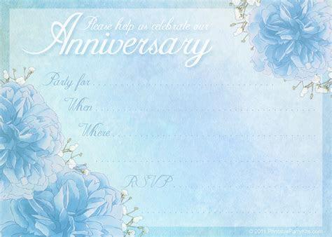 16 Wedding Anniversary Templates Free Images   Anniversary