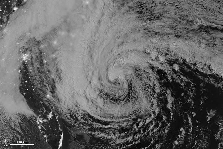 Nasa Image of Hurricane Sandy