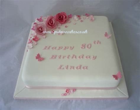 Pretty in pink 80th birthday cake   My creations   80