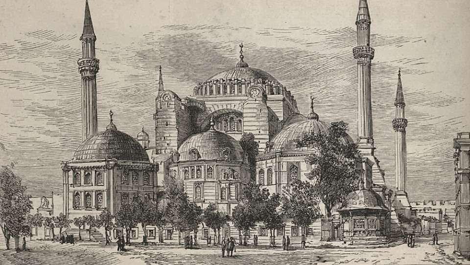 Ο ναός της Αγίας Σοφίας στην Κωνσταντινούπολη. (1880)