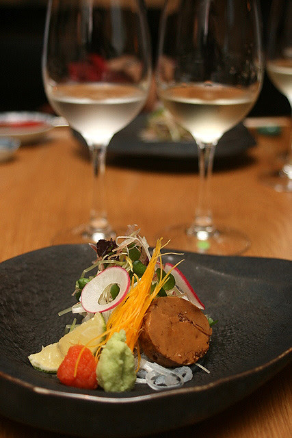 For Sashimi: Reisen Junmai Ginjo Yamadanishiki 2010 (chilled), and San Angelo Pinot Grigio Toscana I.G.T. 2010