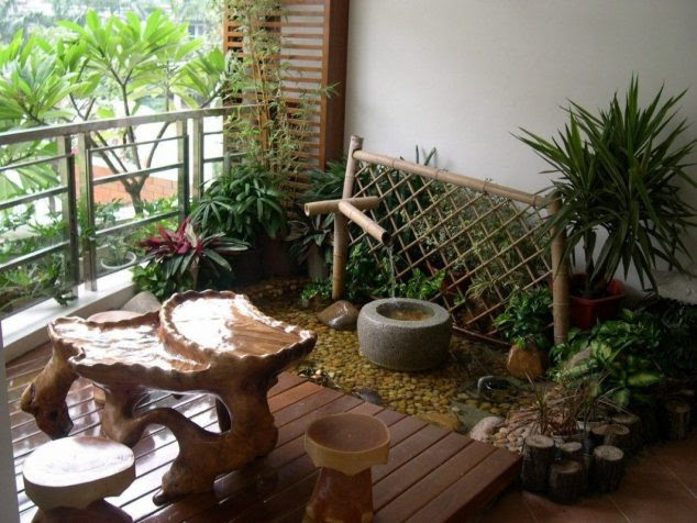 Diy Fountains Patio 634x476 15 Smart Balcony Garden Ideas That are Awesome