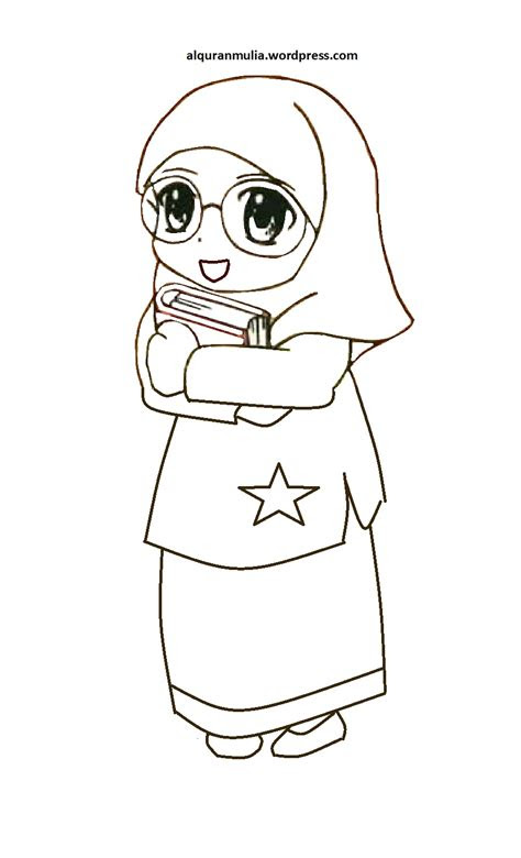 kumpulan gambar anak kecil muslim kartun kantor meme