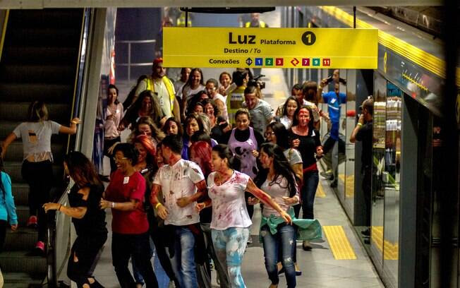 Em maio, uma simulação de ataque terrorista foi realizada no metrô de São Paulo