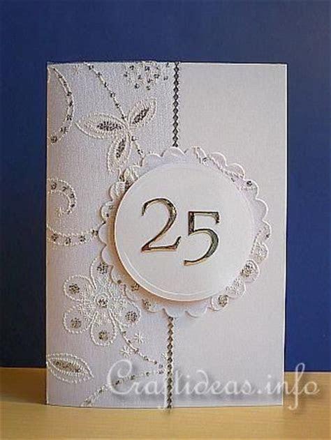 25th anniversary card   scrapbooking   Pinterest