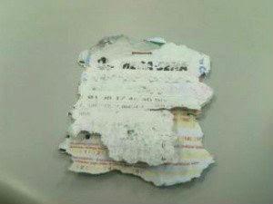 Em Ponta Grossa, bilhete falso com os mesmos números foi apresentado (Foto: Reprodução/RPC TV)