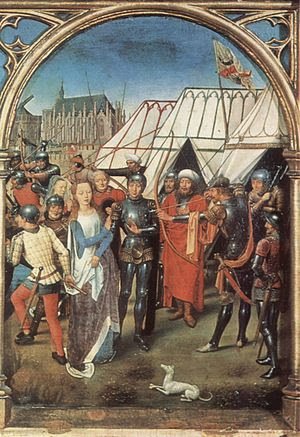 Hans Memling, The Martyrdom of Saint Ursula.