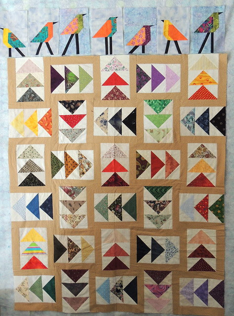 Flying Geese Quilt in Progress