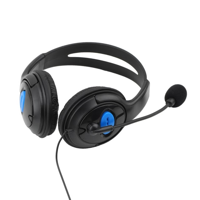 Beste Kopen Wired Gaming Headset Oortelefoon Met Microfoon Stereo Bass Diner Voor Sony PS4 PlayStation 4 Gamer Communiceren Hoofdtelefoon Goedkoop