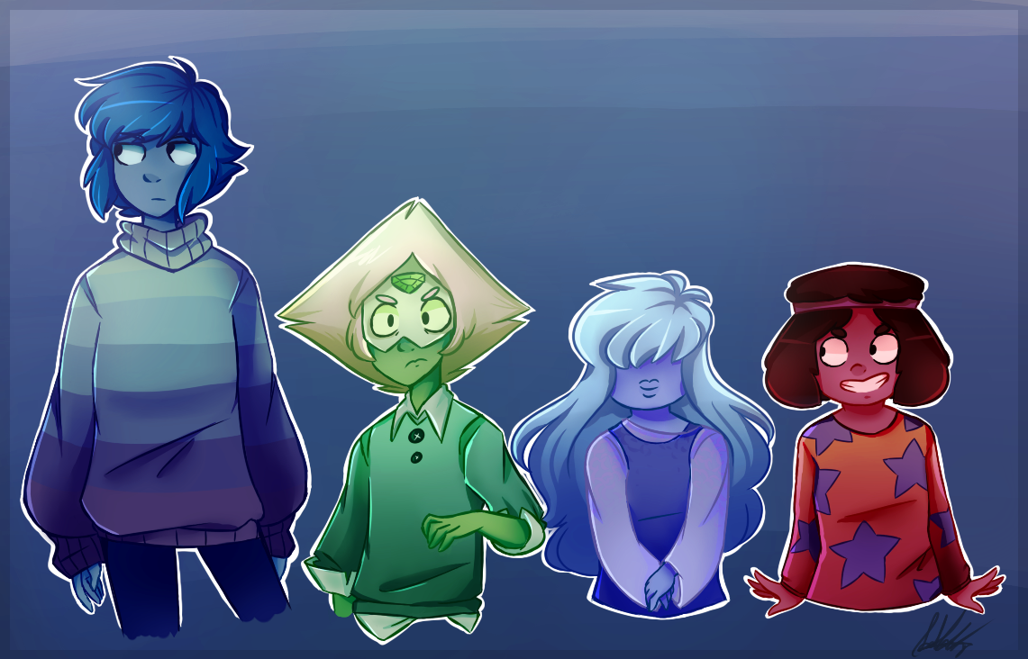 WELP, finally chosen my constant coloring style Also SU babies