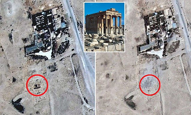Satellite images confirms ISIS destroyed Syrian temple of Baal Shamin