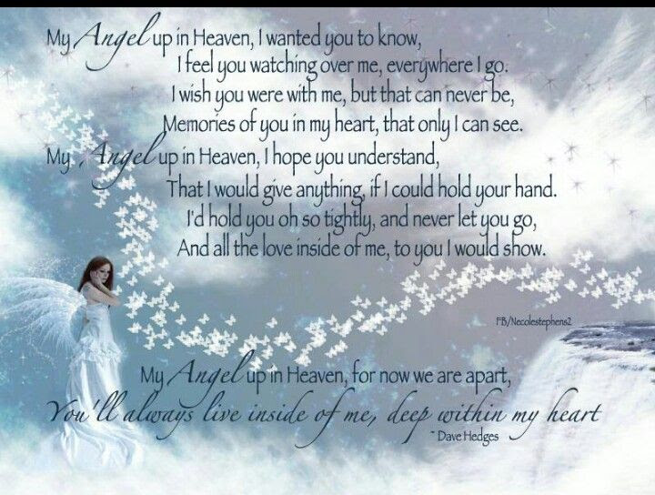 My Angel In Heaven Quotes Soaknowledge