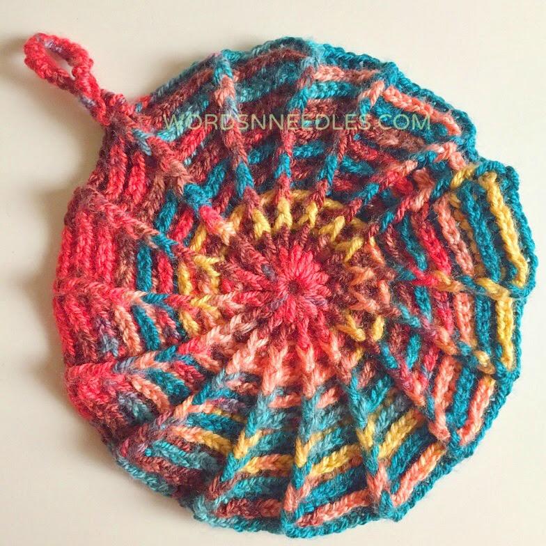 crochet pattern potholder slouchie beanie cushion