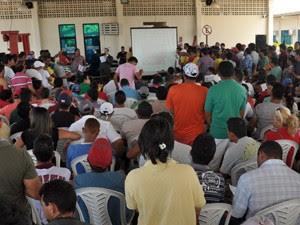 Leilão foi realizado no galpão do setor de vistoria do Detran, em João Pessoa (Foto: Divulgação/Detran-PB)