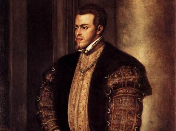 Filippo II ritratto da Tiziano