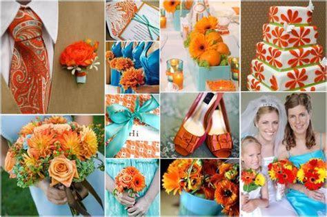 Orange & Aqua Blue   Weddingbee Photo Gallery