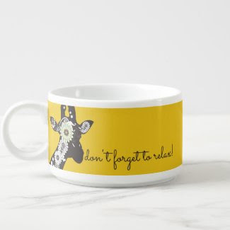 Funky Cool Paisley Giraffe Yellow