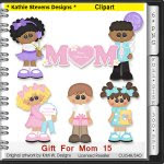 Gift For Mom Clipart - CU