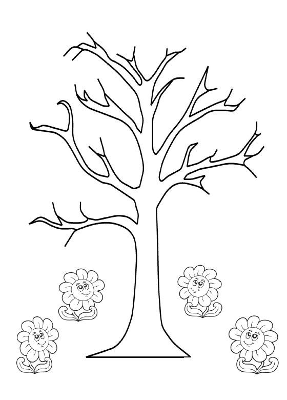Ilkbahar Ağaç Boyama Sayfaları Gazetesujin