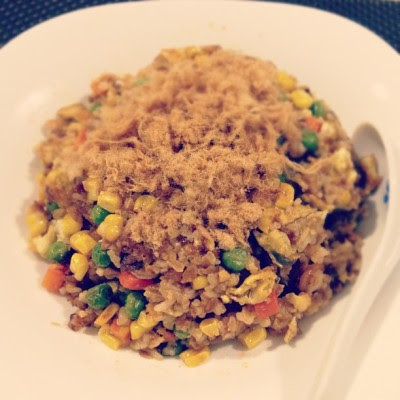 Random creation. Fried rice using peanut paste! 👍😊 (Taken with Instagram)