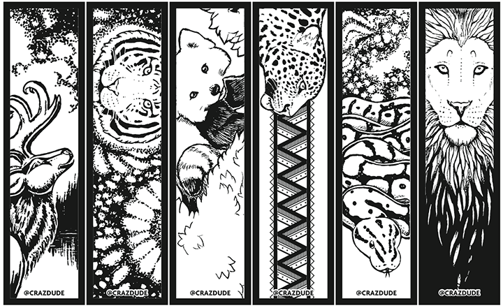 48 FREE PRINTABLE BOOKMARKS COLOURING