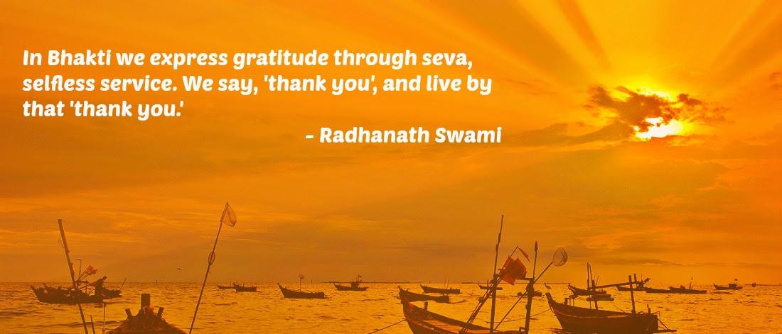 Selfless Service Radhanath Swami Quotes