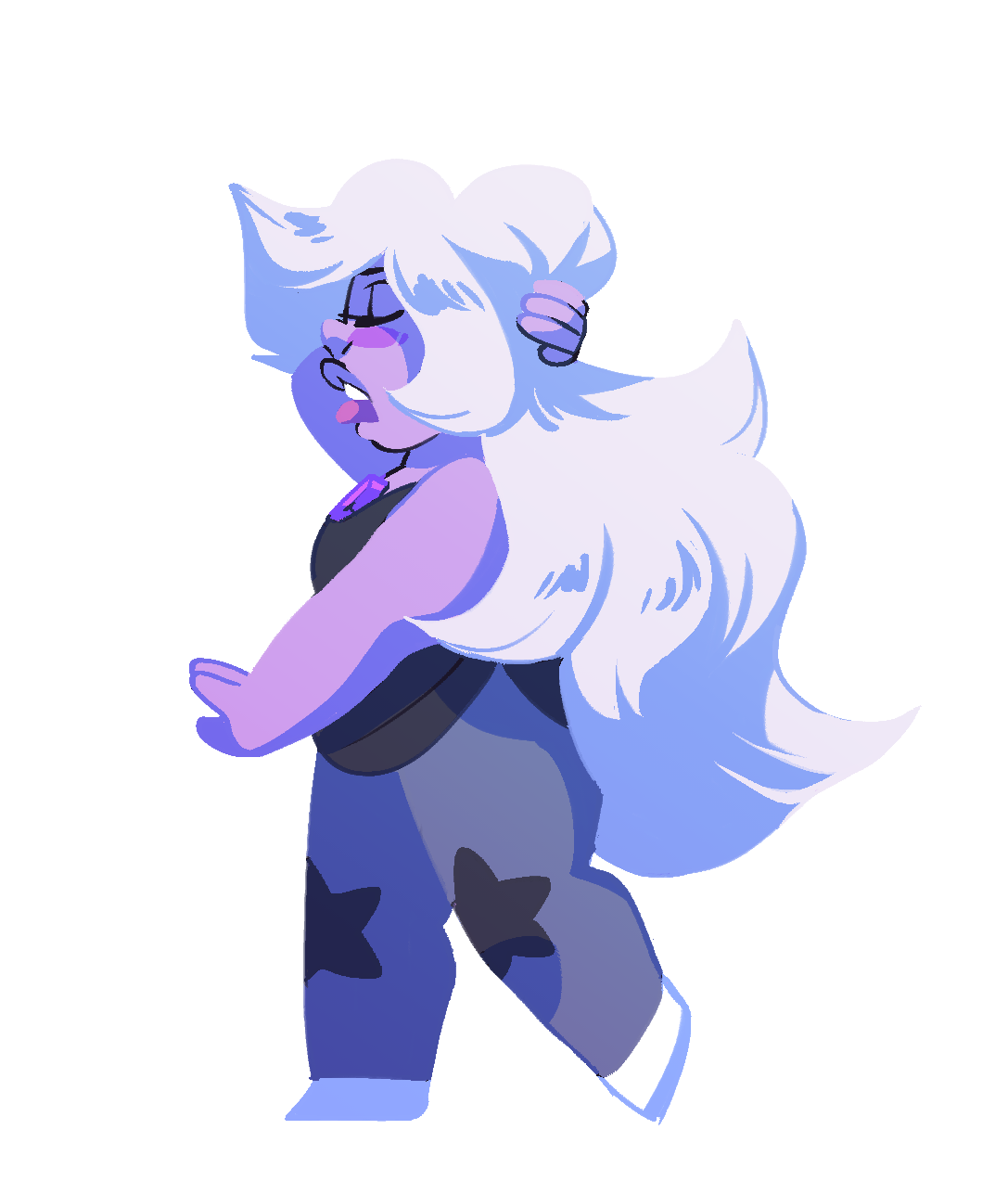sleepy purple gem Just warming up for some stuff I'm trying to plan for this week. I've been really feeling Amethyst lately, she's precious and amazing