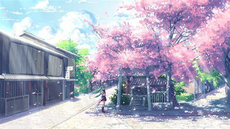 anime cherry blossom desktop wallpaper pixelstalknet