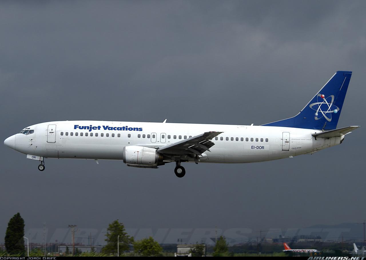 Boeing 7374Y0  FunJet Vacations Futura International